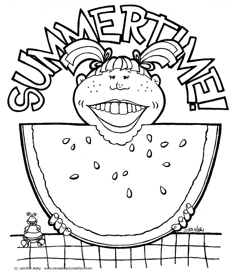 Galerry summer fruit coloring pages